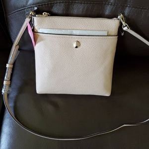 KATE SPADE LEATHER BLUSH PINK POLLY CROSSBODY BAG